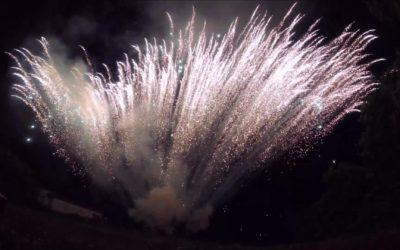 Un feu d'artifice F3 pour un anniversaire dans le Var
