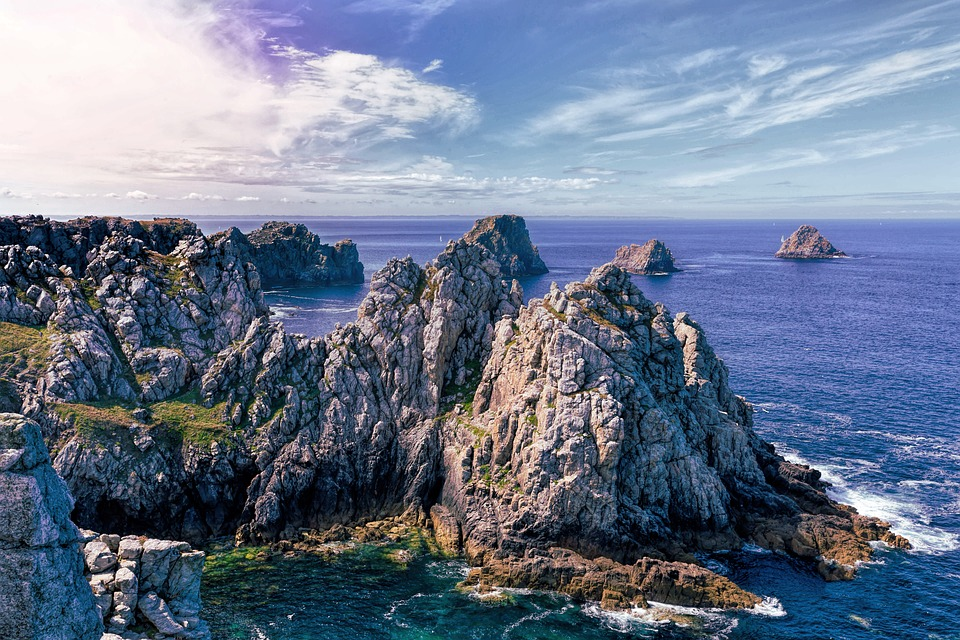 Feu d'artifice pour un mariage en Bretagne