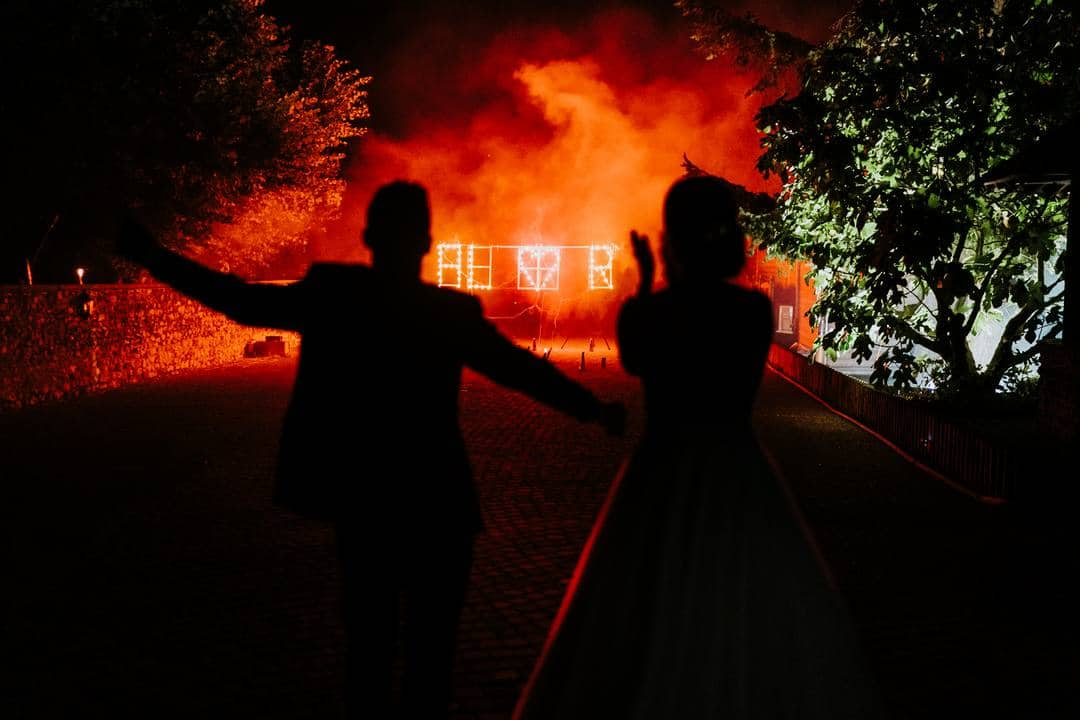 Animation pyrotechnique pour mariage