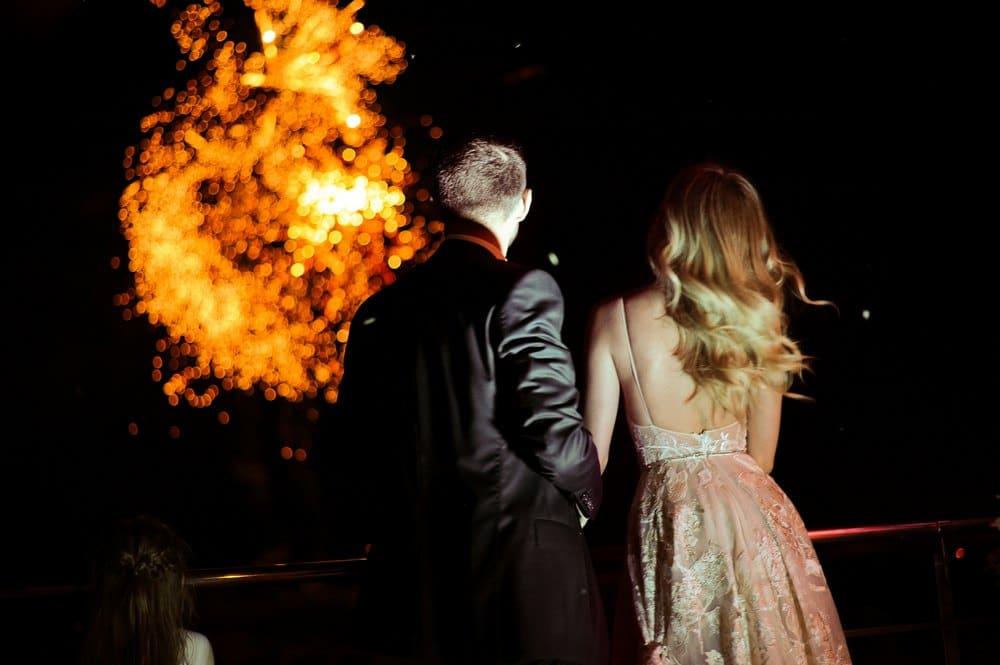 feu d'artifice pour mariage