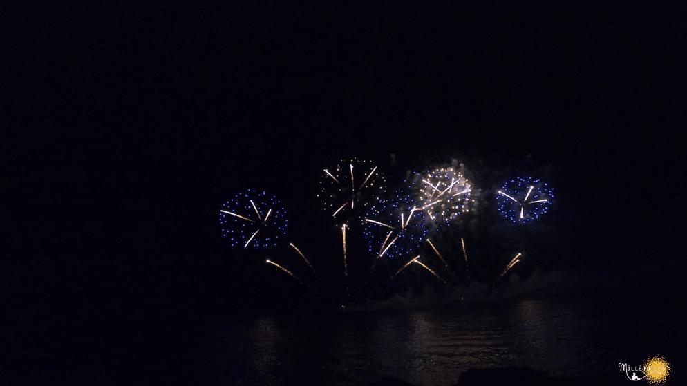 Prestigieux feu d'artifice à la Villa Lou Pinea d'Antibes